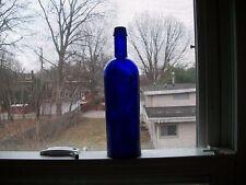 RC & A NEW YORK SHOULDER EMBOSSED VIVID COBALT BLUE 1880 ERA SUPER SHINY CLEAN