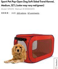 Sport pet pop up open dog soft-sided travel kennel, Mediume