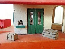 Vintage ITALIAN TRAIN STATION GOODS YARD with Crane 1940'S Wooden Model