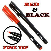 CD DVD Disc OHP Permanent Marker Pens Ultra Thin Slim Fine Tip - Metal Glass