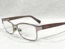 Furla Minerva VU42 COl OA85 Rectangular Rx Eyeglasses Silver Tortoise 54▯15-140