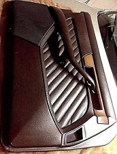 W126 Mercedes Door Panel Drivers Complete Left Pull Arm Rest Grille Wood  Brown