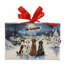 Raz Imports Ornament with Easel, Dogs Watching Santa (3739409)