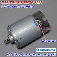 MABUCHI RS-550VC-7525 DC 6V~12V 17800RPM High Speed DC Motor DIY Electric Drill