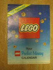 VINTAGE LEGO CALENDAR 1987 PROMOTIONAL VOUCHER SETS POCKET MONEY RETRO POSTER