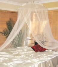 Crema Mosquitera Dosel de cama clásico moderno complejo-Talla única Camas