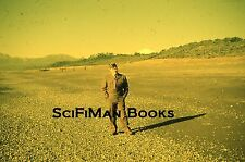 KODACHROME Red Border 35mm Slide Military Man Army Beach Low Tide People 1950s!