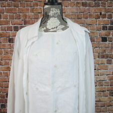 Norton McNaughton Sheer Button Front Blouse And Tank Size L 14 White Floral