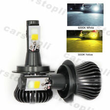 2x Dual Color H7 LED Bulbs Car Fog Lights Lamps Driving White Yellow 180W DRL