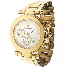 Giorgio Milano 950SG02 Gold Tone Chronograph Quartz Watch Box Paper