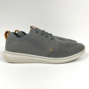Clarks Step Urban Mix Men's Size 9.5 Gray Mesh Lifestyle Sneakers Cloudstepper
