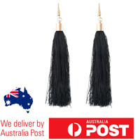 NEW Women Black Gold Earrings Fringe Tassel Dangle Boho Drop Long Vintage Style