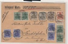 Marienwerder 5pfg/10pfg with inverted surcharges on cover, Michel 15K and 16K