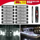 12 Pcs Marine Boat Led Cabin Deck Courtesy Light Stern Transom Lights White