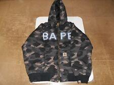 Authentic APE BAPE x CARHARTT COLOR CAMO BAPE HOODED WORK JACKET L USED BLACK