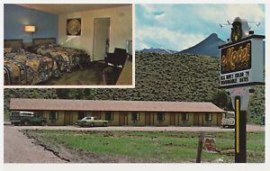 WISE CHOICE MOTEL, WYOMING - MULTIVIEW - OLD CHROME POSTCARD