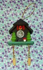 Christmas Wooden Cuckoo Clock Erzgebirge Style Tree Ornament/Magnet