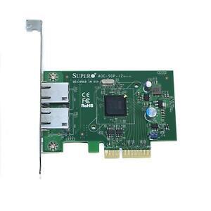Supermicro AOC-SGP-I2 2-Port PCI-Express 2.1 x4 Gigabit Ethernet Controller Card