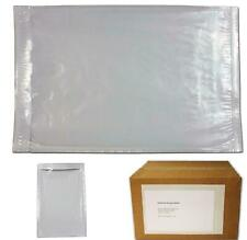 6 X 9 Clear Plastic Adhesive Packing List Mailing/Shipping Envelope Pouch - 100