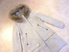 J CREW HOODED WOOL CHATEAU PARKA COAT,JACKET  12 #G9093