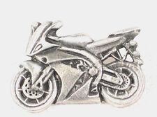 Motorbike pewter pin badge