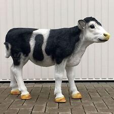 KALB HOLSTEIN KUH schwarz weiß 100 cm Garten Deko Tier Figur Skulptur BAUERNHOF
