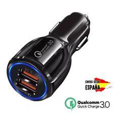 Cargador de móvil universal para coche mechero 3.1A con carga rápida DOBLE USB