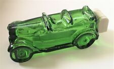 AVON Vintage Green Glass Car Decanter 1969 to 1971 era Great Condition