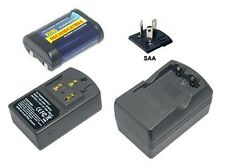 Akku + Ladegerät für Panasonic 2CR5M 5032GC DL245 EL2CR5 KL2CR5