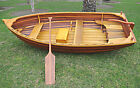 Cedar Strip Built Rowboat Dingy 9.87' Matte Finish Wooden Row Boat Tender New