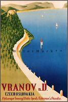 Czechoslovakia Vranov 1930 Vintage Poster Print Retro Style Travel Art