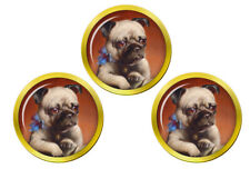 Pug Puppy Golf Ball Markers