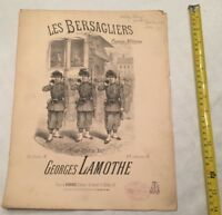 LAMOTHE Georges Les Bersagliers  Piano 6f 4 mains 9f 1893 partition sheet music
