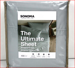Sonoma ULTIMATE Sheet Set - FLEXI FIT 400 tc 18 Deep Sateen Cotton GRAY 🌟NEW🌟