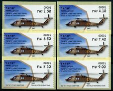 More details for israel aviation stamps 2020 mnh air force helicopters sikorsky 6v s/a atm labels