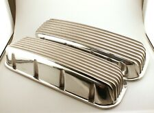 Pair Finned Aluminum Big Block Chevy Valve Covers No Hole S6181
