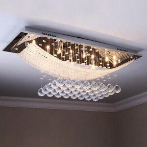Modern Crystal Ceiling Light 6 Lights Chandelier Bed  Living Room Light