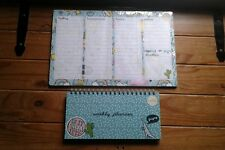 ###  TWO  ###   DESK PLANNERS...(80/100 sheets)......NEW...