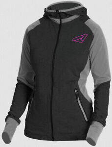 FXR Ladies Pulse Active Hoodie Xs Black/Grey Heather Closeout