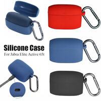 For Jabra Elite Active 65t Earphone Charging Case Silicone Skin Cover Shockproof