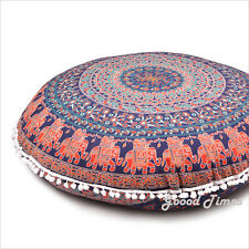 Blue Decorative Floor Pillow Cushion Cover Mandala- 32""