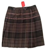 pringle of scotland Skirt Kilt Womens UK 14 Euro 42 Brown Black Beige Checked
