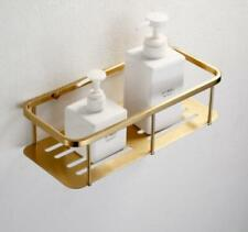 Brushed Gold Bath Brass Shower Caddy Wire Basket Storage Shelves Single Layer