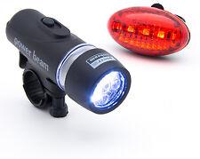 5 LED Rücklicht Scheinwerfer Set Fahrradlampe Fahrradlicht Fahrradleuchte Neu