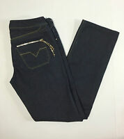 Diesel Lowky W29 L34 42 44 jeans donna blu gamba dritta donna usato slim T615