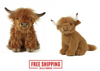 21cm,30cm Living Nature Highland Cow Soft Toy Soft Cuddly Plush Toy Small Large