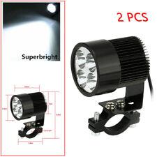 4LED White Motorcycle Headlight Spot Light DRL Driving Fog Lamp Waterproof Black