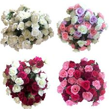 5x 21 Heads Rose Bunch Artificial Flower  Home Decor Bridal Bouquet Floral