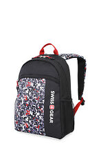 "Swiss Gear 6326 Boys Digicraft Camo 16"" Backpack School Book Bag Black Gray Red"