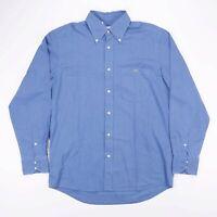 Vintage LACOSTE Blue Long Sleeve Pocket Shirt Size Mens Large